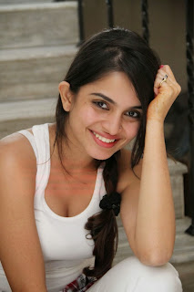 Sheena Shahabadi in lovely White Tank Top and Red Skirt lovely Beauty