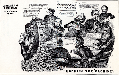 Anti-Lincoln, anti-greenbacks cartoon from the Civil War