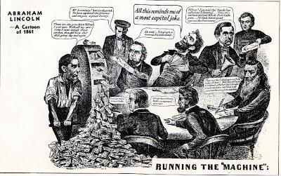 Anti-Lincoln, anti-greenbacks cartoon from the Civil War