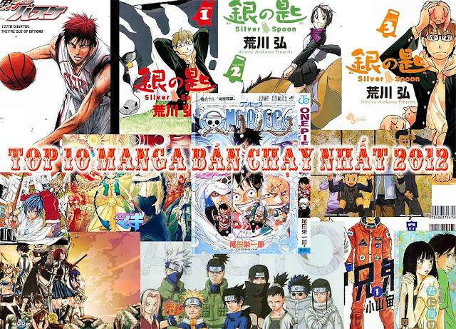 Top 10 manga bán chạy nhất