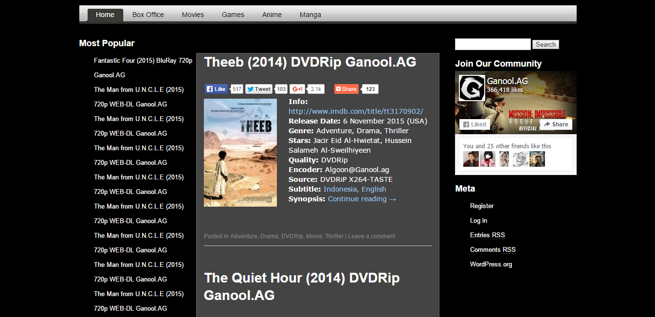 The Official site of GANOOL Movies, TV Shows, Games and More - Ganool.ag