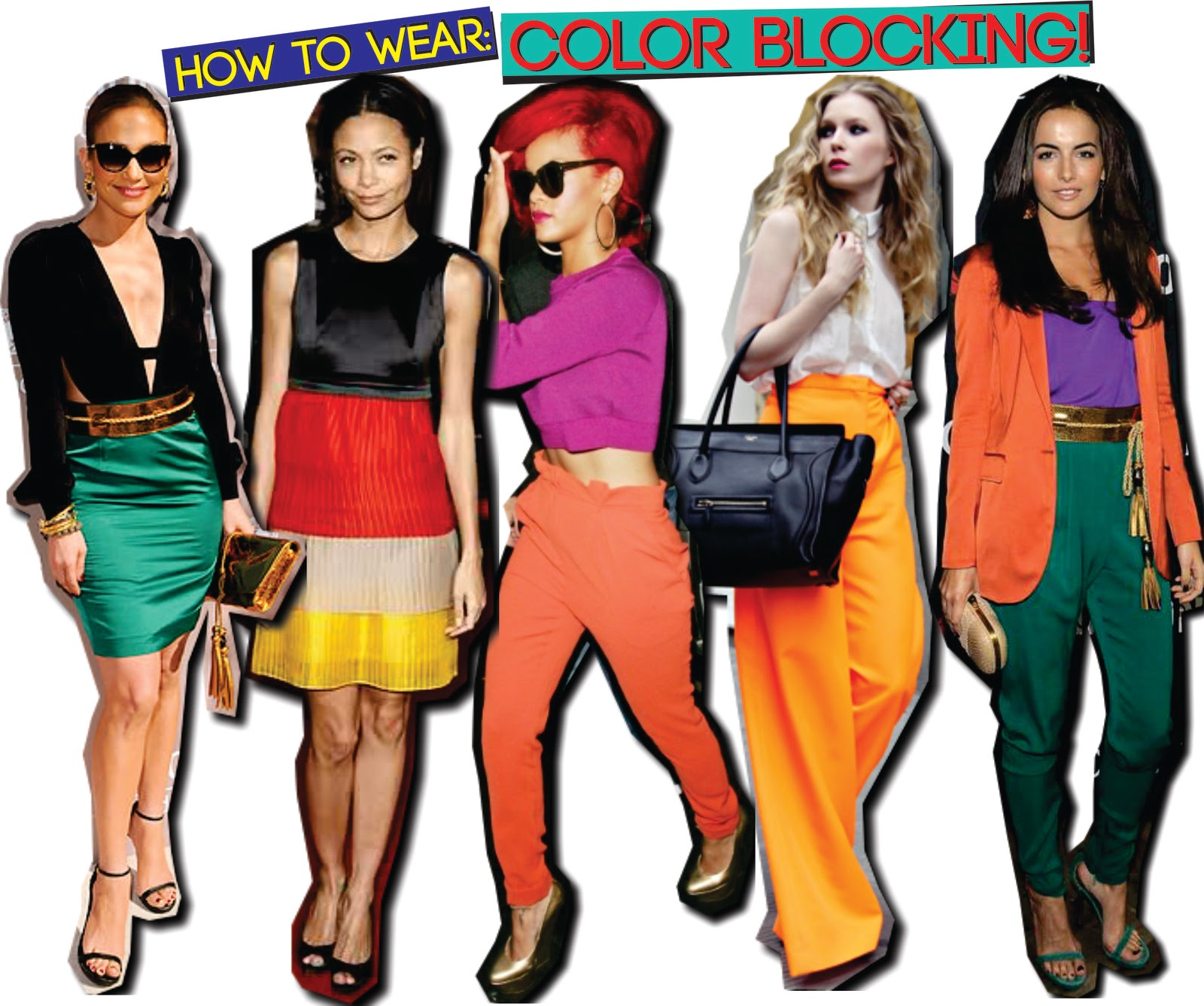 Candy Cake12 Fashioning The Color Blocking Trend