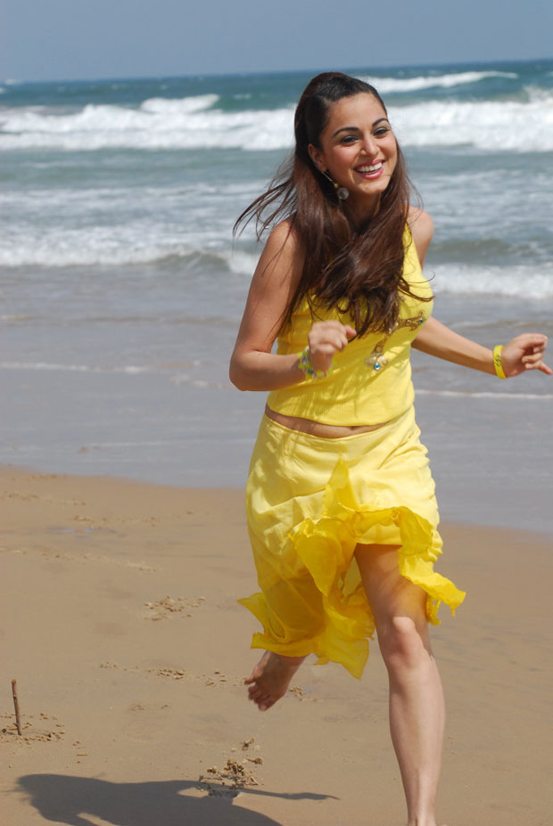 Indian celebrity in beach