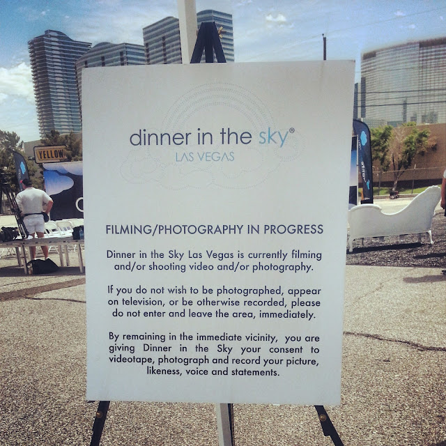 Dinner in the Sky Las Vegas groundbreaking