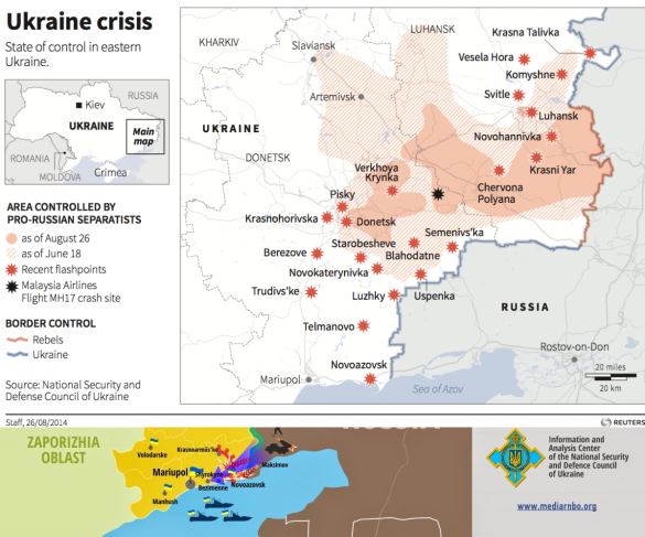 A Map Of The Military Flashpoints In Ukraine