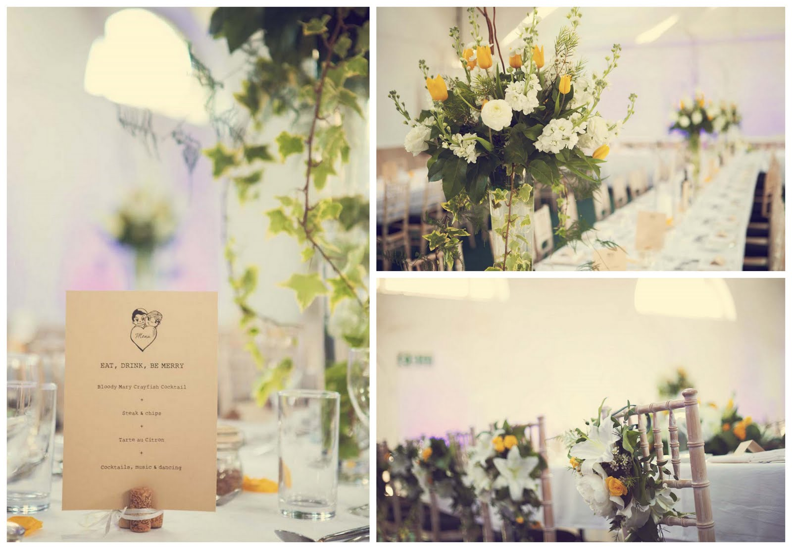 Real Shabby-Chic English Marquee Wedding: Eleanor & Peter