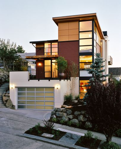 Home design ideas pictures design two storey house for Modern house exterior makeover