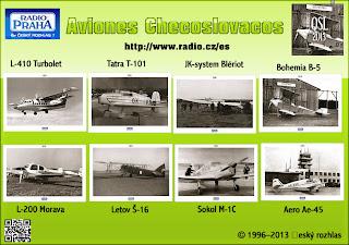 Republica Checa:QSL 2013: Tema: Aviones Checoslovacos
