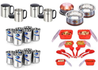 Snapdeal :  Buy 1 Get 1 FREE Offer  Get Pigeon, Nayasa, Dine Kitchen Products And Get Upto 80% off