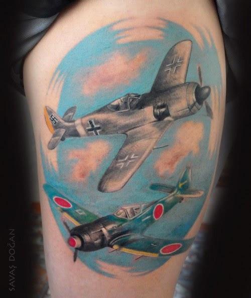 Adventurous Planes and Aviator Tattoos
