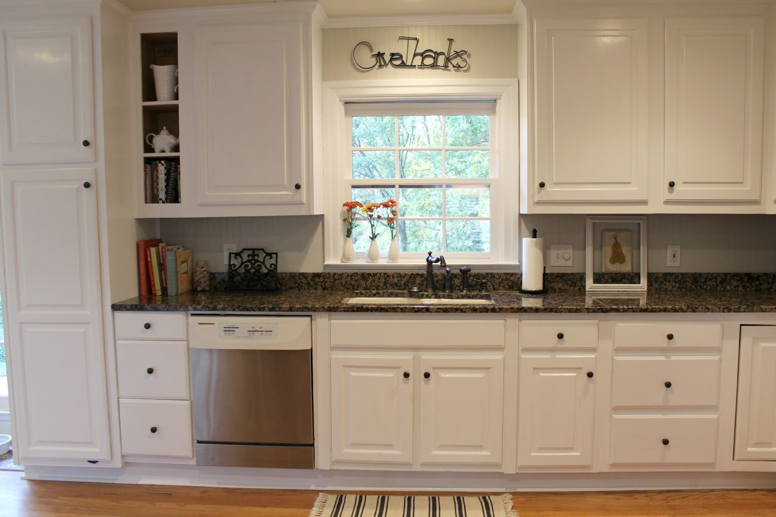 Week I Shared The Big Reveal Of Our Freshly Painted Kitchen Cabinets