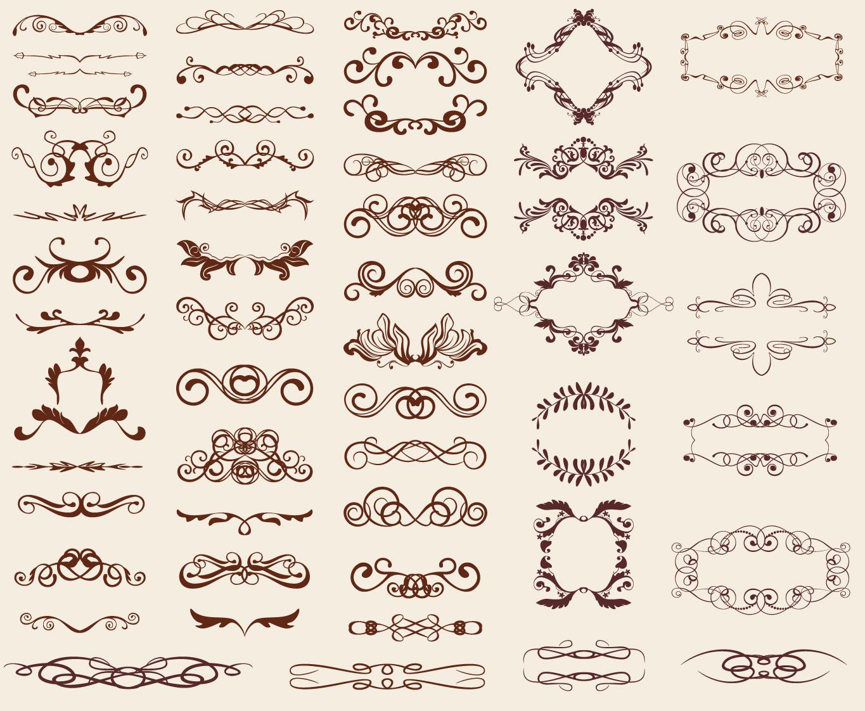 Retro design elements ai eps for Libros antiguos para decoracion
