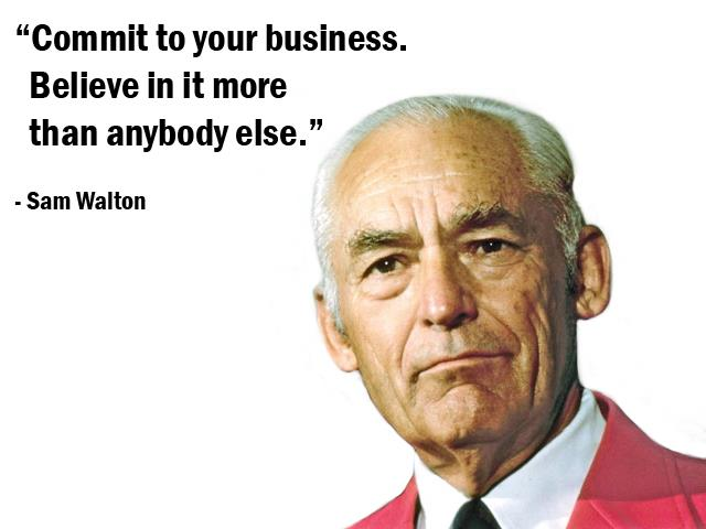 a history of the founding of the wal mart corporation by sam walton