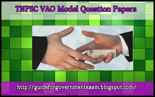 VAO Model Question Paper