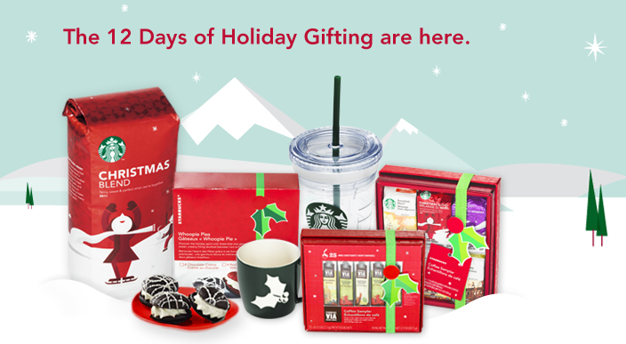 Starbucks Deal: 12 Days Of Gifting Launches December 1 - 12, 2012 ...