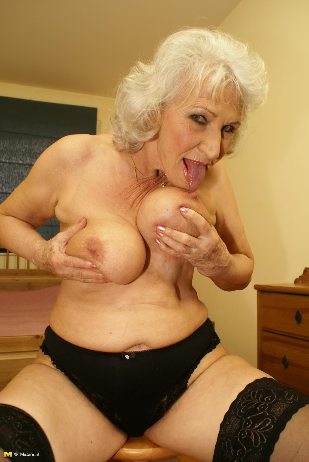 Something Lesbian grannies porn think only!