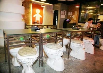 Restoran tandas, toilet restaurant