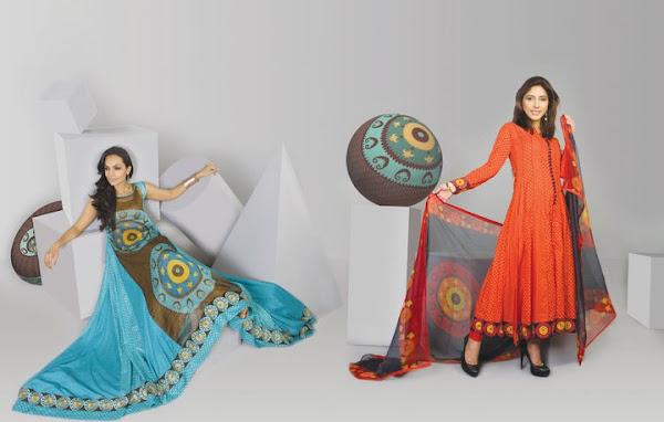 Wardha Saleem Lawn Spring Dress Collection 2012