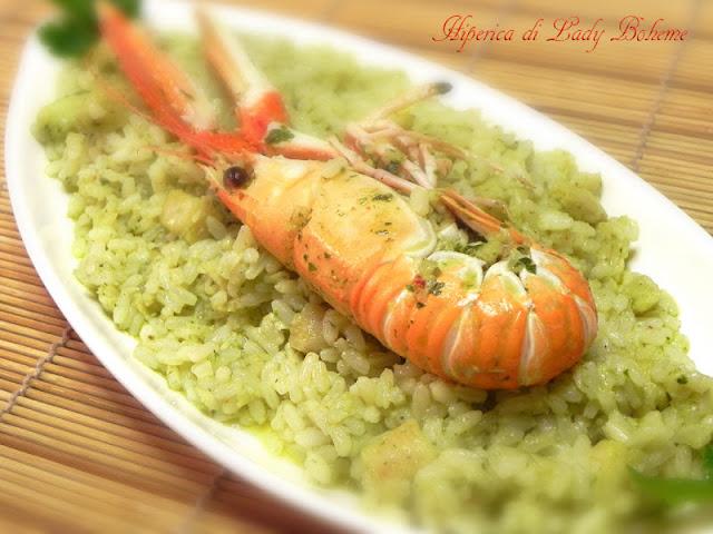 hiperica_lady_boheme_blog_di_cucina_ricette_gustose_facili_veloci_risotto_con_scampi_e_pesce_persico_5