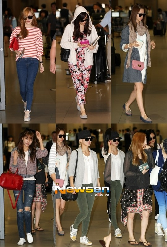 [Press Pictures] 130522 SNSD Arrival at Incheon Airport from Thailand