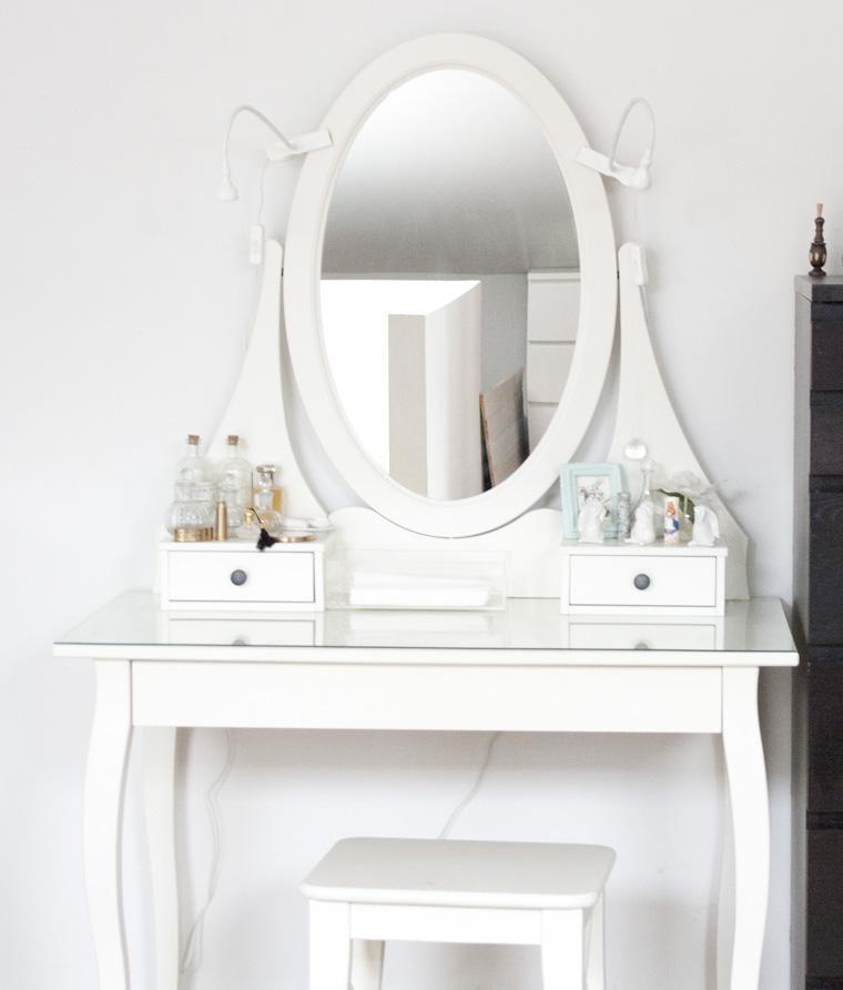 Detalles de tocador tr nsito inicial - Espejo hemnes blanco ...