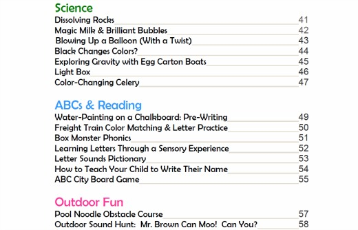 contents of the bloggers filling backpacks ebook