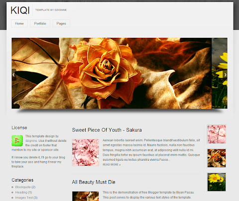 Kiqi Blogger Theme
