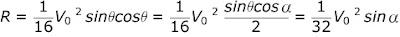 sudut θ yang memberikan R maksimum