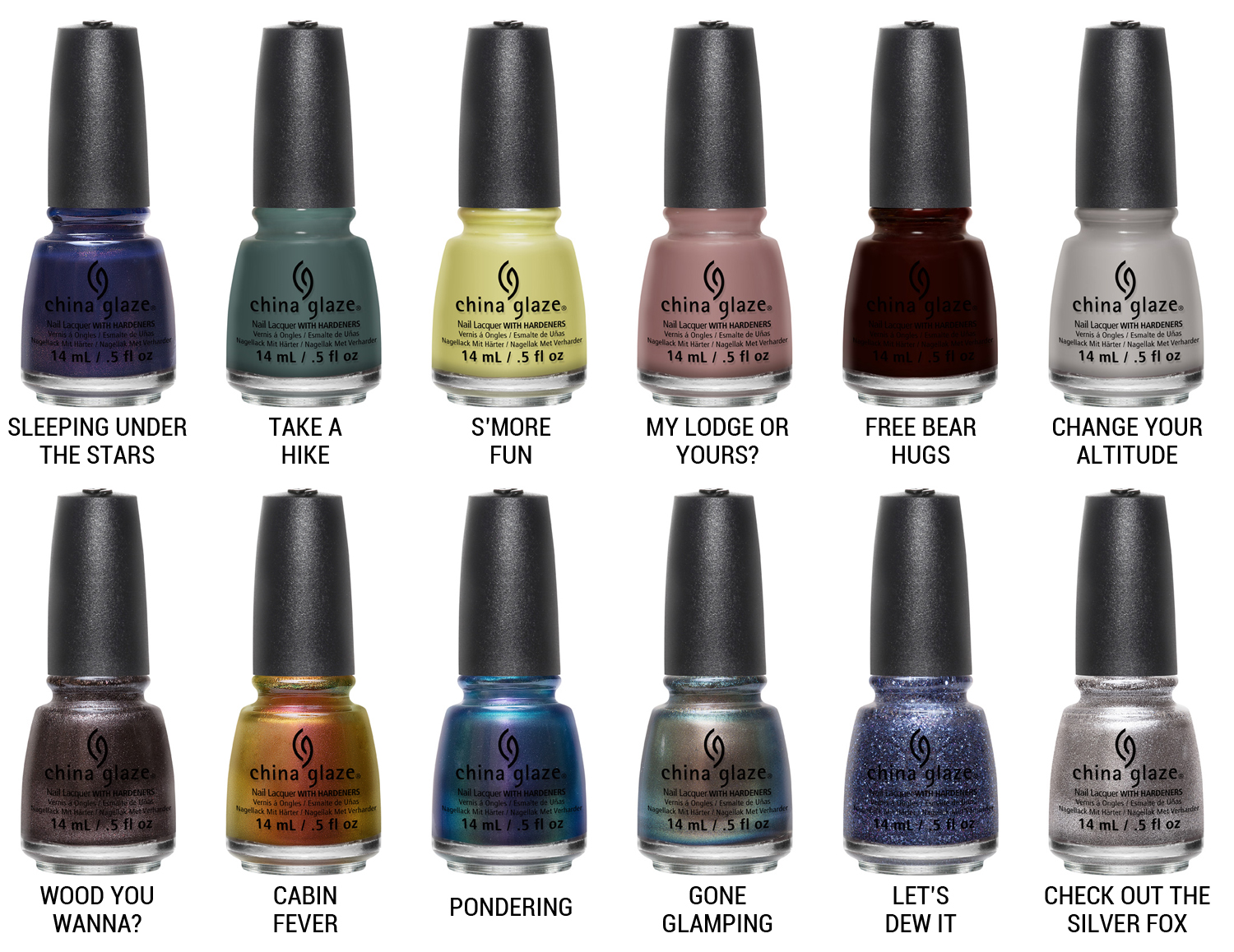 China Glaze The Great Outdoors Collection via @chalkboardnails