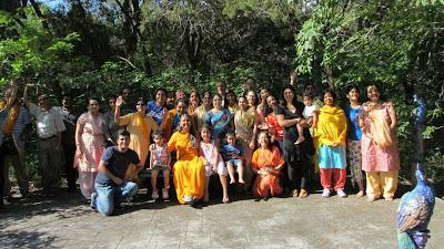 Youth camp with Siddheshwari Devi, disciple of Jagadguru Kripaluji Maharaj