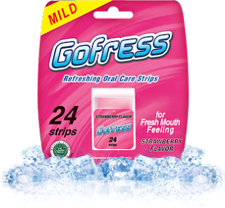 Gofress rasa strowberry, gofress strowberry flavour