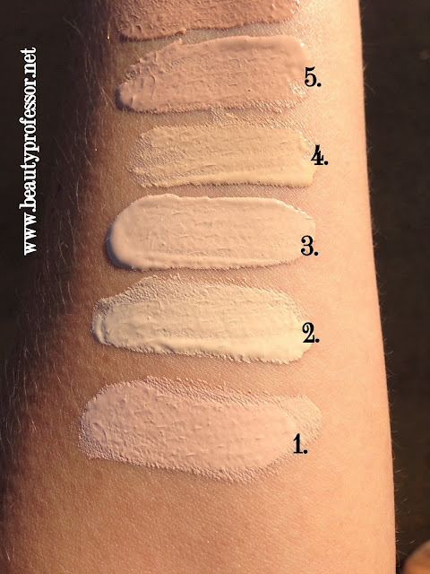 By Terry Densiliss foundation swatches