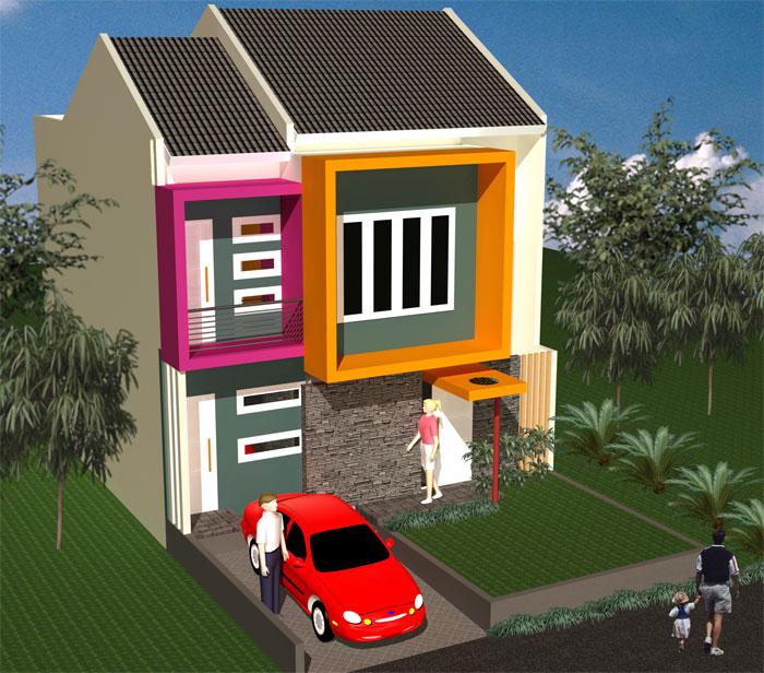 Satu lagi contoh untuk warna cat rumah minimalis bagian muka rumah.