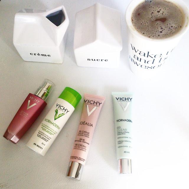 Mon café 4 crèmes: mes essentiels beauté du matin #Pourmoicestvichy