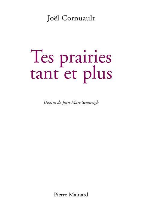 Joël CORNUAULT, TES PRAIRIES TANT ET PLUS, Pierre Mainard, 2018