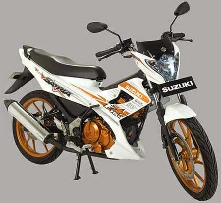 gambar satria white fighter 2015