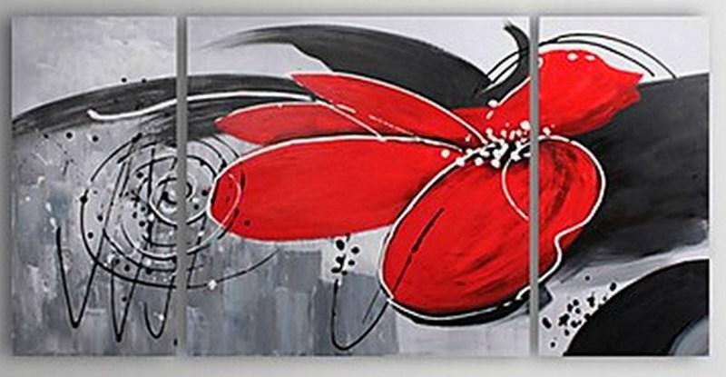 Cuadros modernos pinturas y dibujos cuadros tr pticos - Pintar un cuadro moderno ...