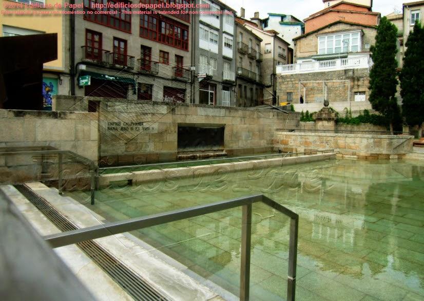 Piscinas termales de Las Burgas, en Ourense