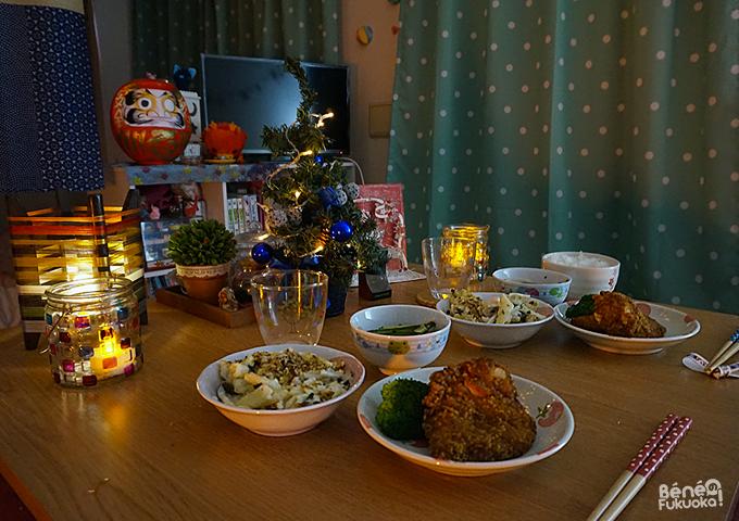 repas de Noël chez Béné no Fukuoka !