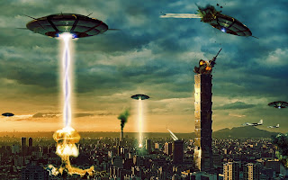 End Of The World Humans Vs Aliens HD Wallpaper