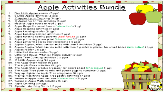 Apple Activities Theme Bundle