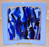 Fused glass scrap box platter