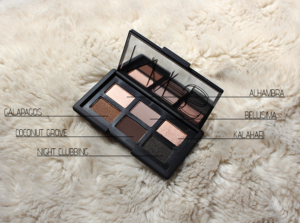 nars god created woman palette review names