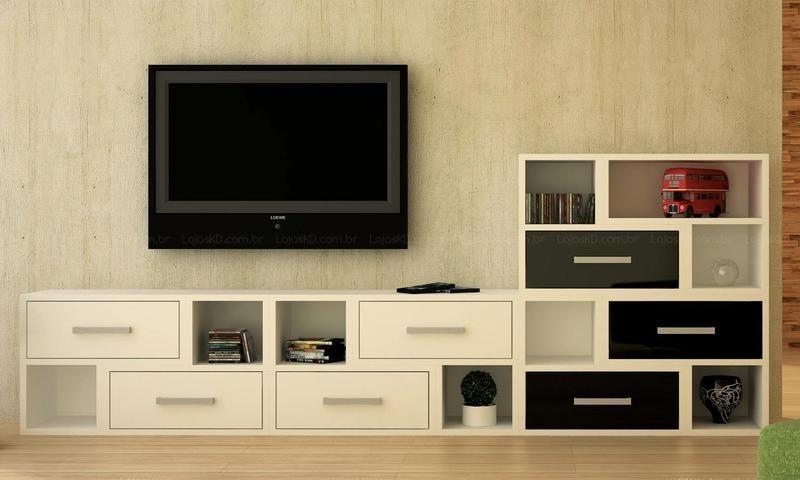 Muebleria d y c linea nueva para tu living - Modulo para tv ...