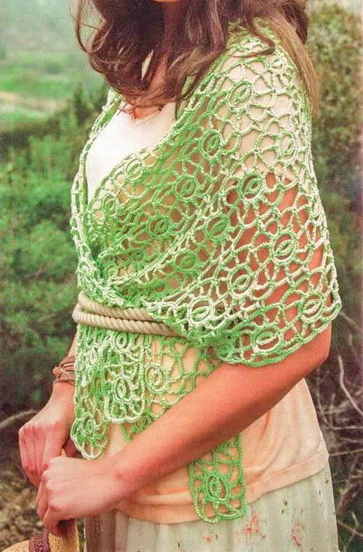 Crochet Patterns Shawls And Wraps : Crochet Shawls: Crochet Shawl Wrap Pattern And Necklaces ...