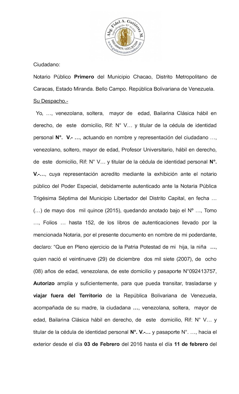 Civil familia sucesiones abogados venezuela modelo for Definicion exterior