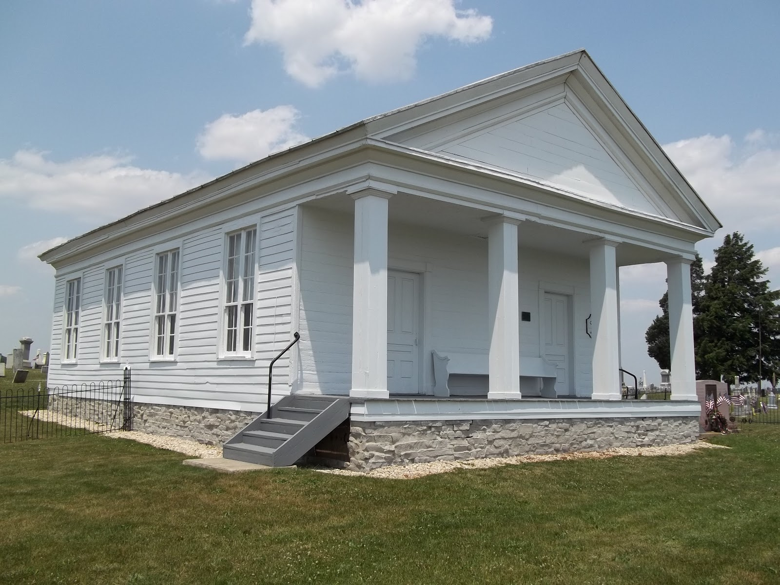 omar chapel showing new paint and new foundaton