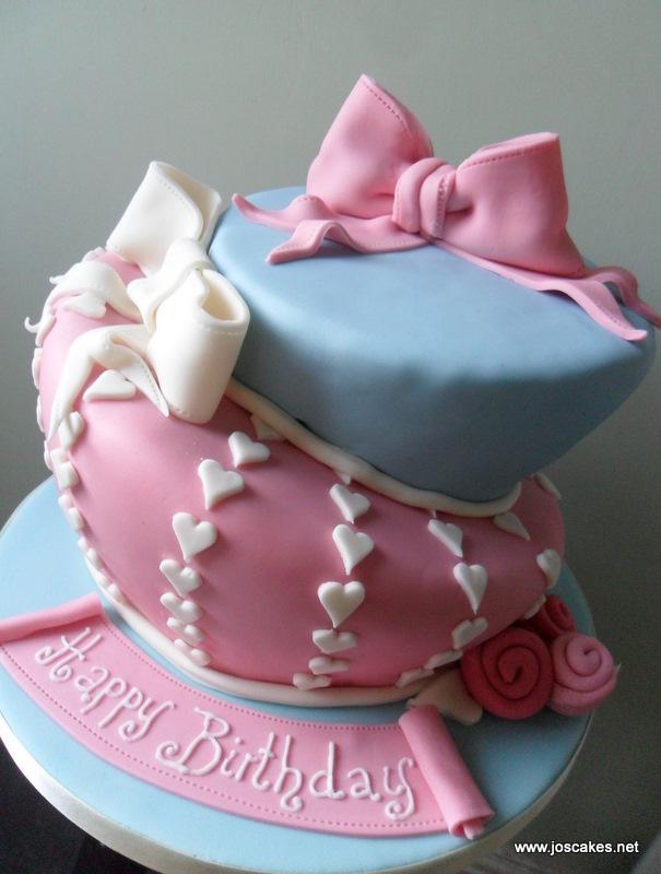 Jos Cakes Shabby Chic Inspired Wonky Birthday Cake