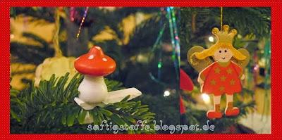 Weihnachtsschmuck Pilz und Elngel