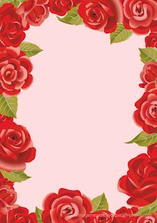 Rosas rojas sobre fondo rosa  Folios con rosas para imprimir